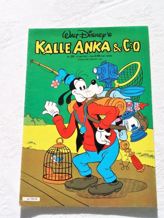 Kalle Anka&Co nr29 1977 mycket bra skick,adressetikett baksida.