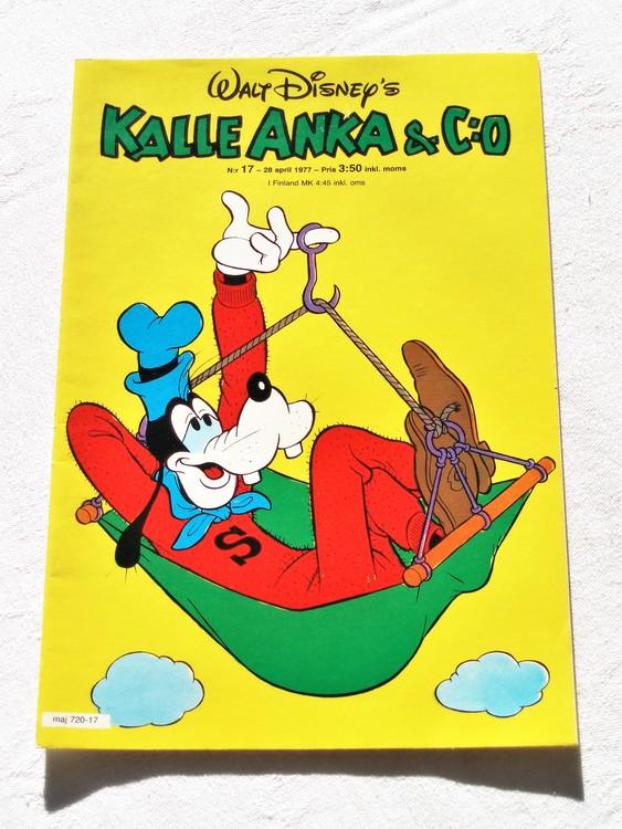 Kalle Anka&Co nr17 1977 mycket bra skick,adressetikett baksida.