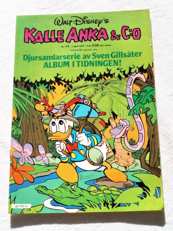 Kalle Anka&Co nr14 1977 mycket bra skick,adressetikett baksida.