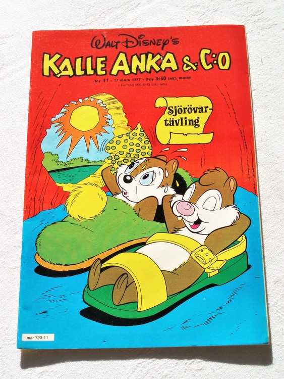 Kalle Anka&Co nr11 1977 mycket bra skick,adressetikett baksida.