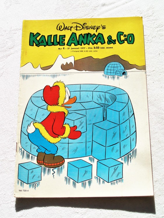 Kalle Anka&Co nr4 1977 mycket bra skick,adressetikett baksida.