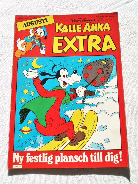 Kalle Anka Extra nr8 1978 mycket bra skick