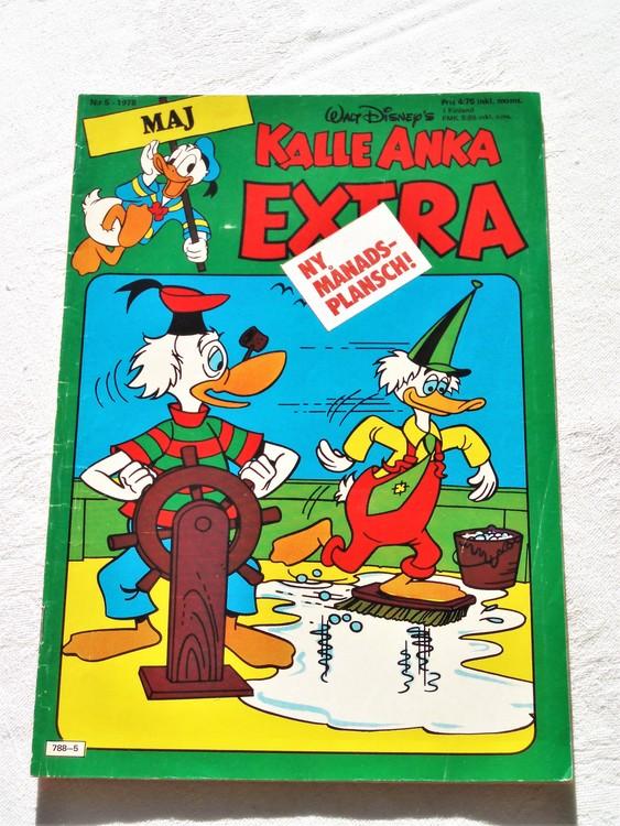 Kalle Anka Extra nr5 1978 mycket bra skick