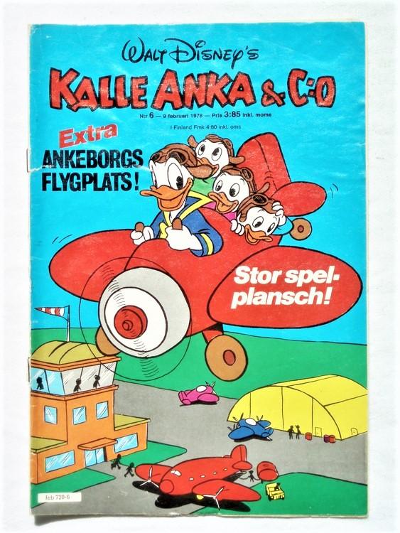 Kalle Anka&Co nr6 1978 mycket bra skick,adressetikett baksida.