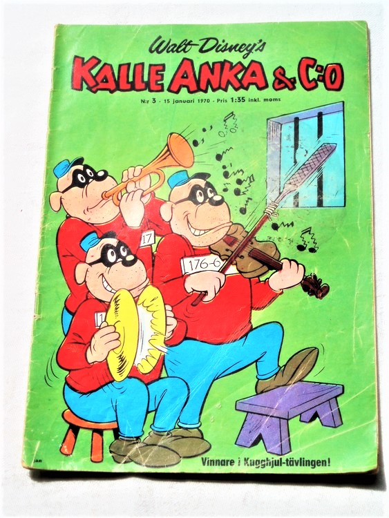 Kalle Anka&Co nr3,1970,normalskick, normalsliten,nött rygg