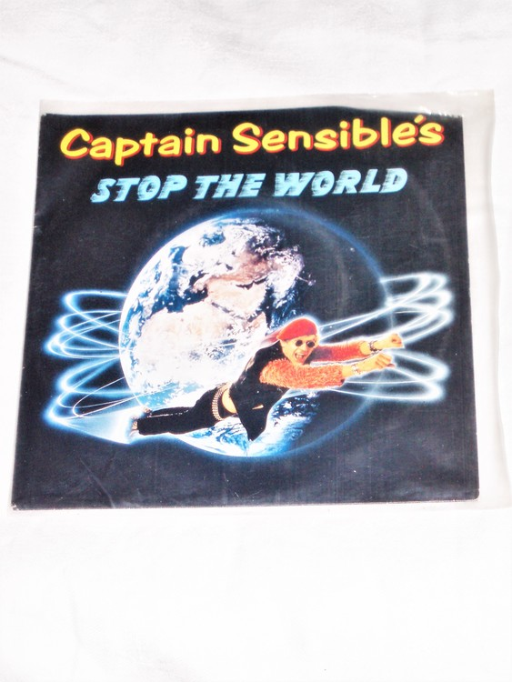 "Captain Sensible´s ""Stop The World""mycket bra skick."