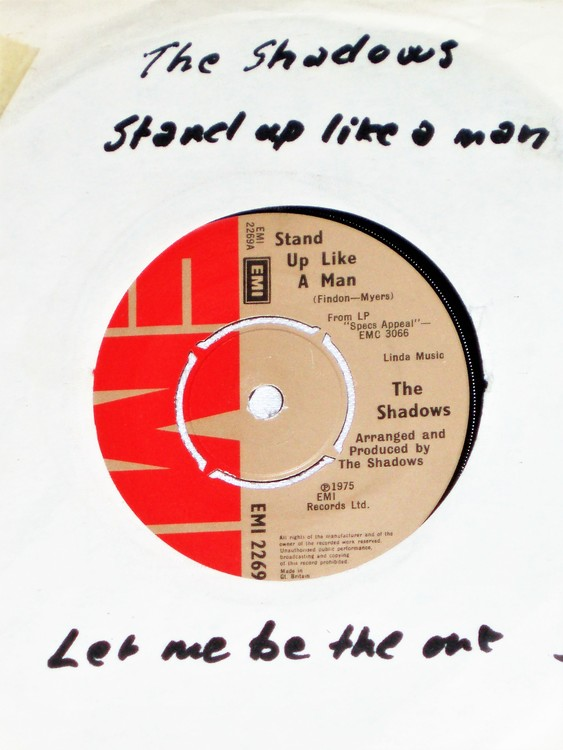 """The Shadows """"Let Me Be The One"""" 1975 mycket bra skick."""