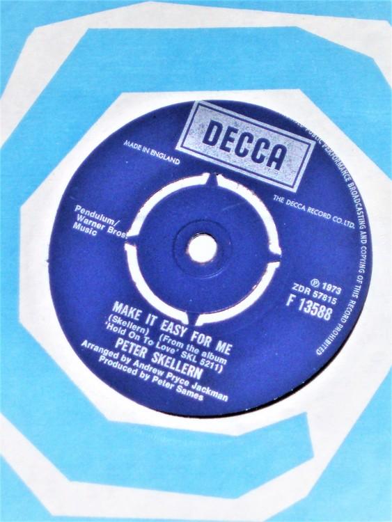 "Peter Skellern ""Make It Easy For Me"" 1973 mycket bra skick."