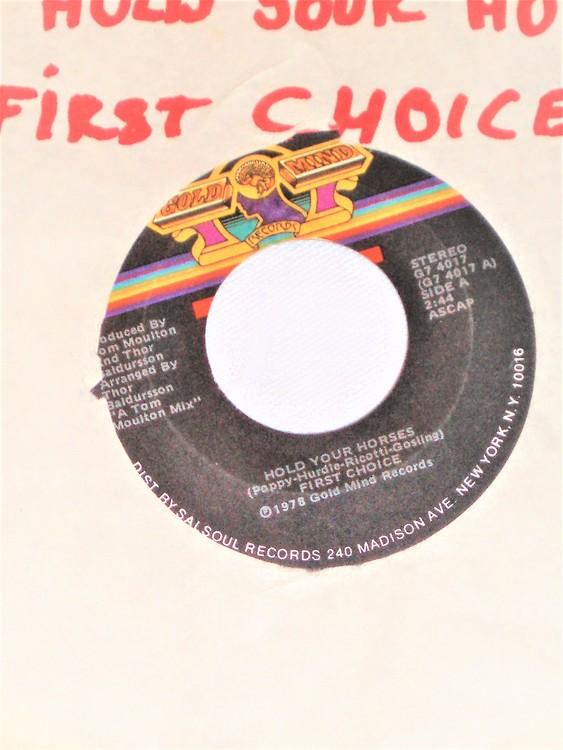 "First Choice ""Hold Your Horses""1978 mycket bra skick."