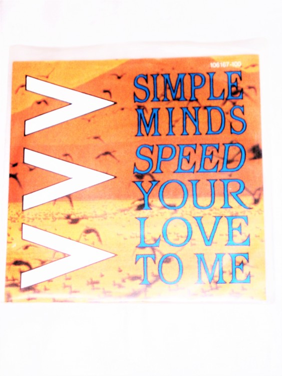 """Simple Minds""""Speed Your Love To Me"""" mycket bra skick."""