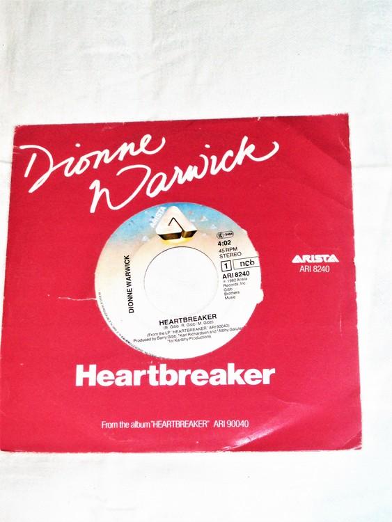 """Dionne Warwick """"Heartbreaker""""1982 mycket bra skick."""