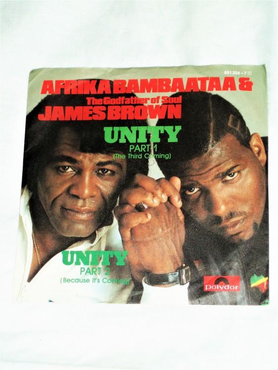 """Africa Bambaataa & James Brown """"Unity"""" mycket bra skick."""