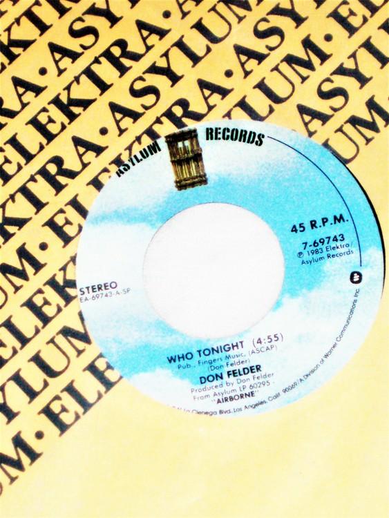 "Don Felder ""Who Tonight"" mycket bra skick."