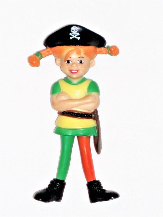 Pippi som Sjörövare höjd 9 cm normalt begagnat skick.