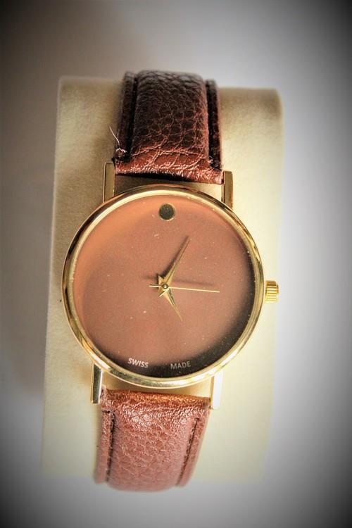 Armbandsklocka Herr Dia 4.1 cm Urtavla Brun.Brunt armband Nyskick
