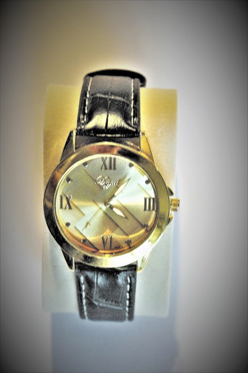 Dgjud Armbandsklocka Herr Dia 4.1 cm Urtavla Guld Klockslag Sekunder Nyskick