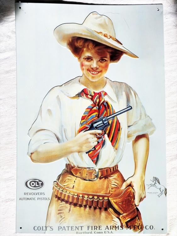 Plåtskylt Colt 41 x 26.5 cm 1991 bättre skick