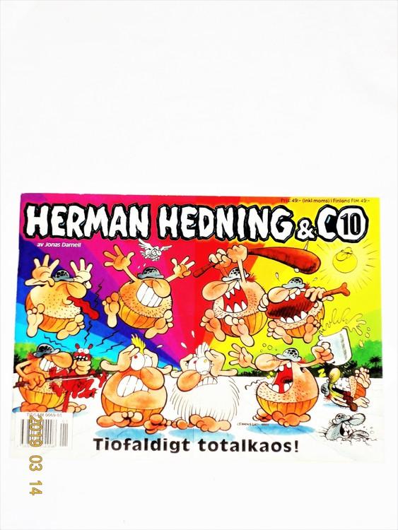 """Herman Hedning nr10 """"Tiofaldigt Totalkaos"""" mycket bra skick"""