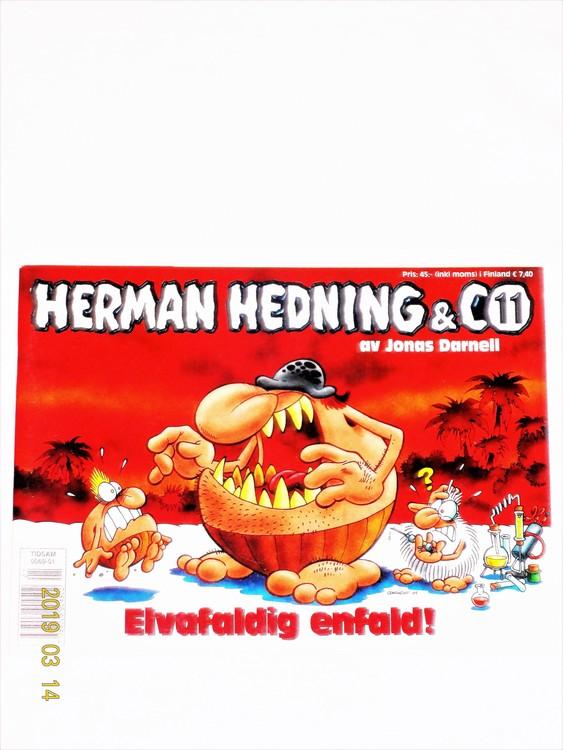 """Herman Hedning nr11 """"Elvafaldig Enfald"""" mycket bra skick"""