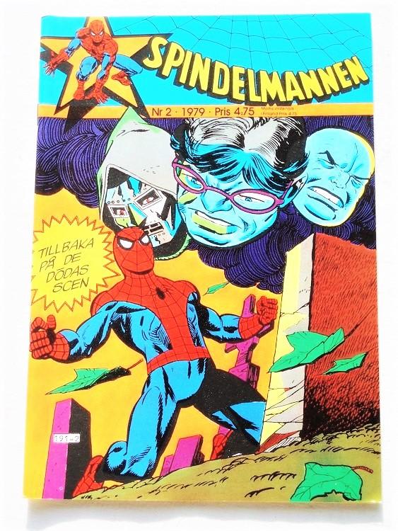 Spindelmannen nr 2 1979 mycket bra skick,ny oläst