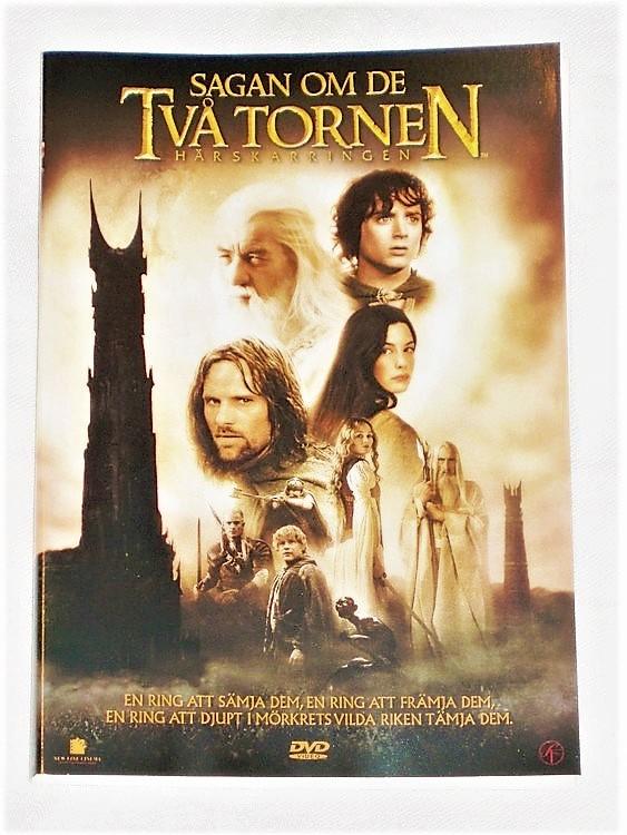 DVD Sagan om de Två Tornen Svensk text,begagnat skick.
