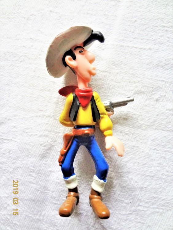 """Lucky Luke """"Skjuter Snabbare Än Sin Egen Skugga"""" 7.7cm mycket bra skick."""