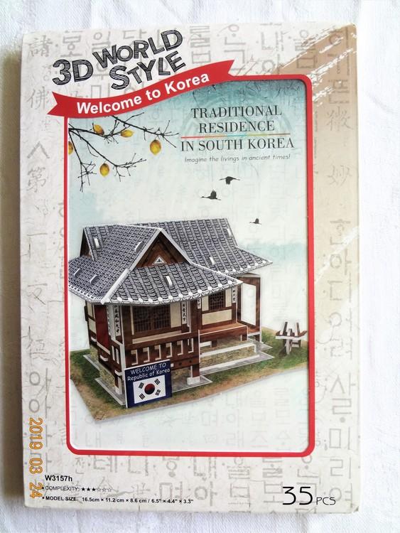 """Byggmodell 3D World Style Welcome Korea""""Traditional Residence""""35 bitar Nytt"""