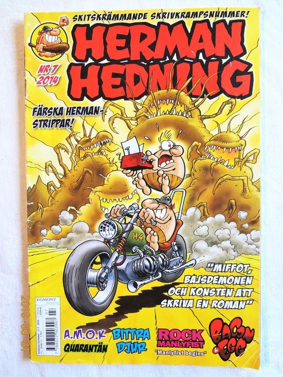 Herman Hedning nr7 2014 mycket bra skick.