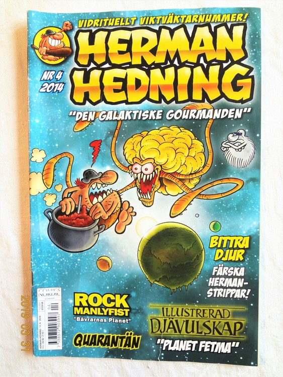 Herman Hedning nr4 2014 mycket bra skick.