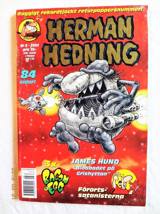 Herman Hedning nr8 2004, 84 sidor mycket bra skick.