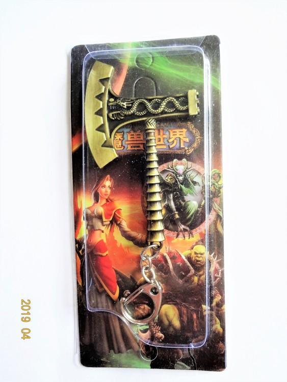 World of Warcraft Nyckelring i metall. Längd 8.5 cm Mycket bra skick.