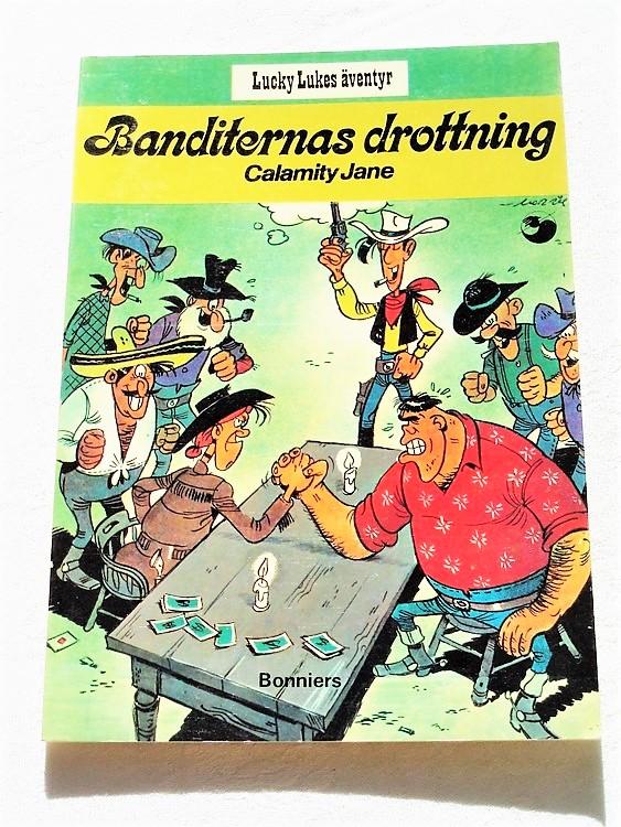 """Lucky Luke""""Banditernas drottning""""nr10,2:a upplaga 1975 Bonniers Ny oläst"""