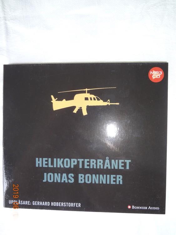 "Jonas Bonnier""Helikopter rånet""2017,1cd 11tim 22min Mycket bra skick."