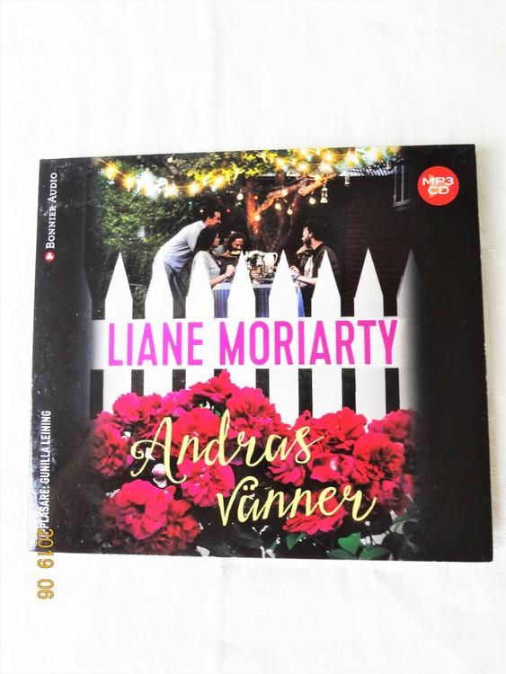 """Liane Moriarty""""Andreas Vänner"""" mycket bra skick begagnad."""