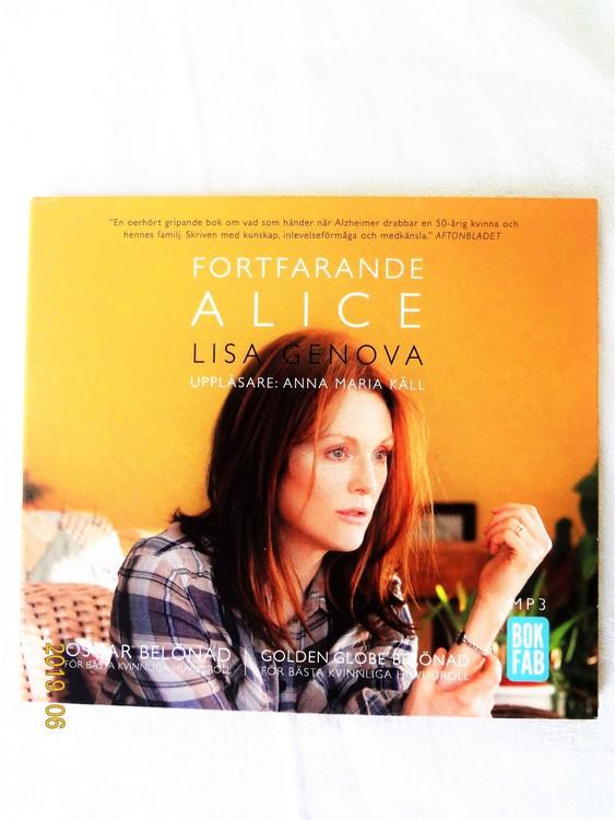 """Lisa Genova """"Fortfarande Alice"""" mycket bra skick begagnad."""
