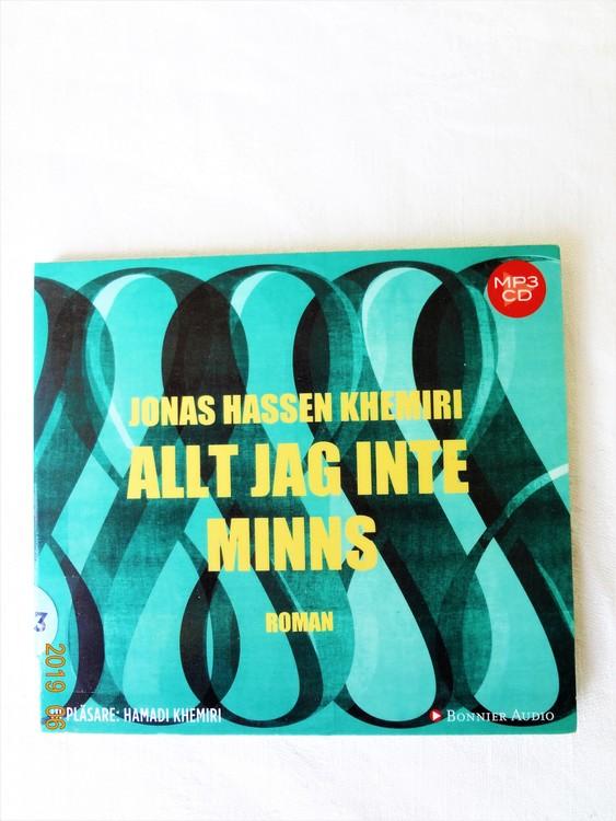 """Jonas Hassen Khemiri""""Allt Jag Inte Minns"""" mycket bra skick begagnad."""