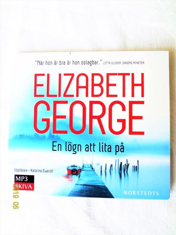 """Elisabeth George """"En Lögn Att Lita På"""" mycket bra skick begagnad."""