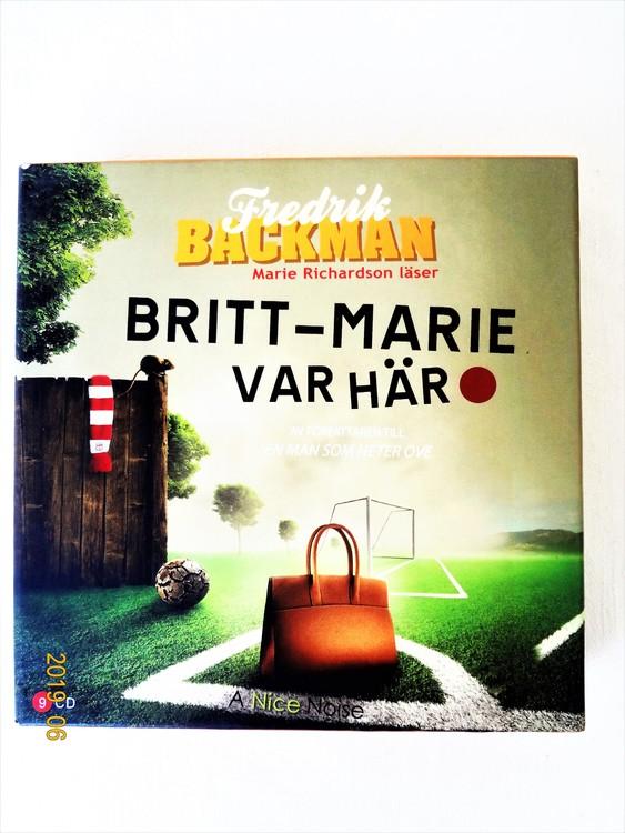 """Fredrik Backman """"Britt-Mari Var Här"""" mycket bra skick begagnad."""