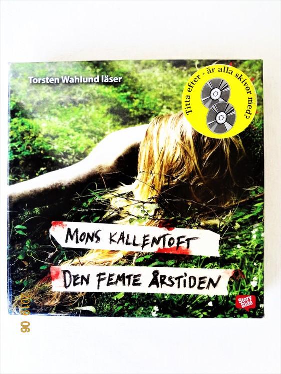 """Mons Kallentoft """"Den femte årstiden"""" mycket bra skick begagnad."""