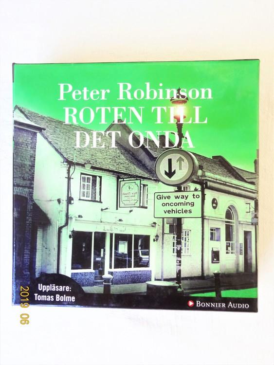 """Peter Robinson """"Roten Till Det Onda"""" mycket bra skick begagnad."""