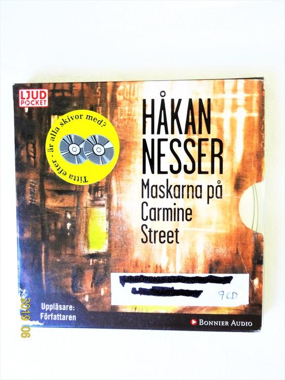 """Håkan Nesser """"Maskarna På Carmine Street"""" mycket bra skick begagnad."""