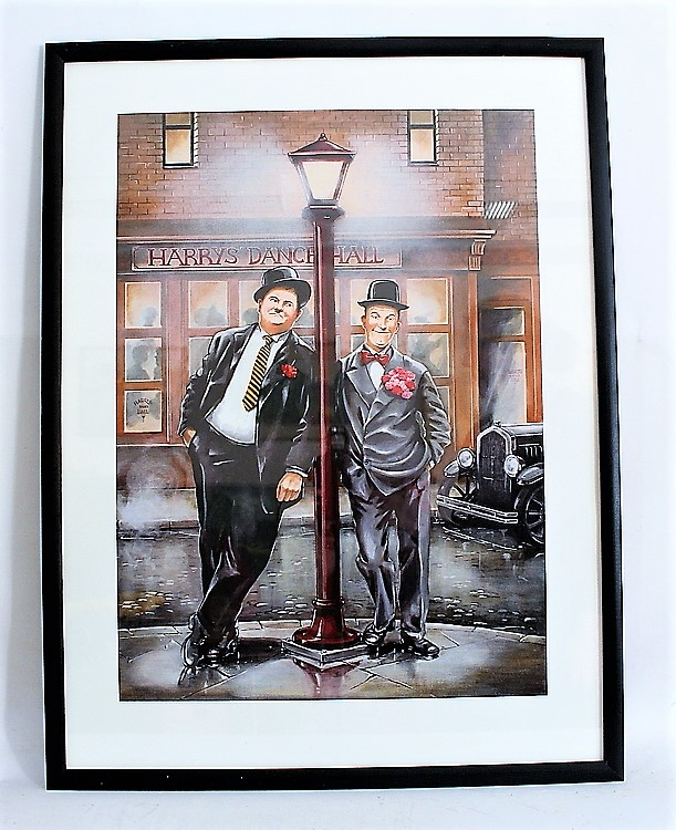 """Helan&Halvan affisch 50 x70cm Tryck,radarparet som är duktiga på """"att göra bort sig"""""""