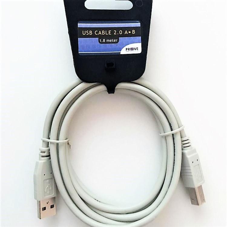 USB kabel 2.0 Am-Bm, 1.8m för anslutning av skrivare till dator