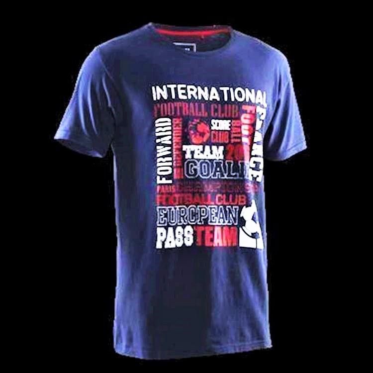 Etirel T-shirt i ren bomull (XXL).Rund hals. Stort tryck fram