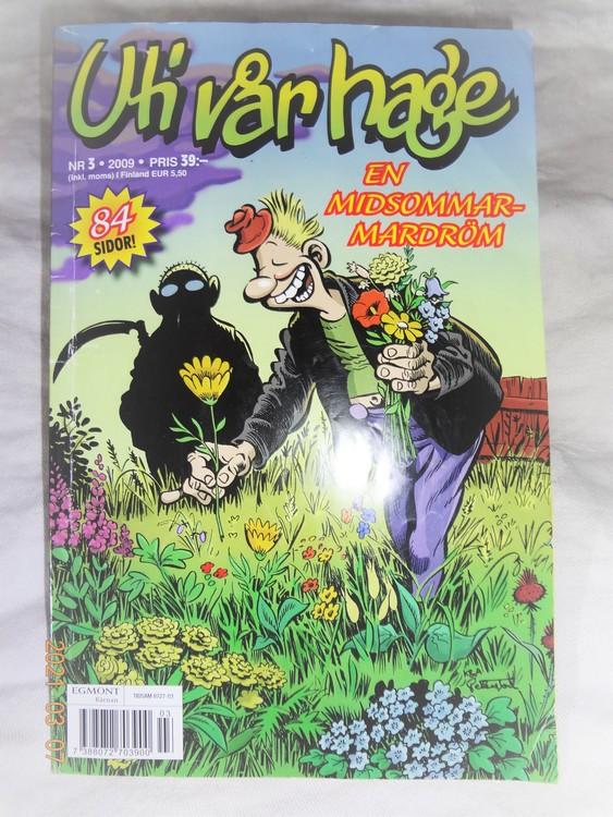 Uti vår hage nr 3 /2009, 84 sidor,normalskick några småveck.