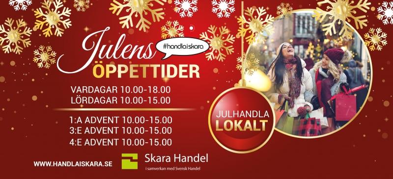 Julens öppettider i butiken i Skara