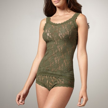 Linne Camisole Classic Wood Green - Hanky Panky
