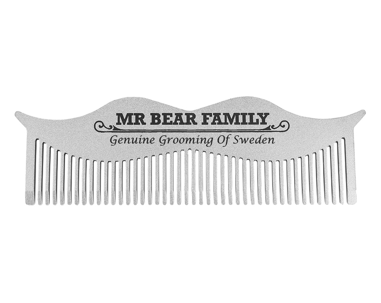 Moustache Steel Comb - Mr. Bear Family