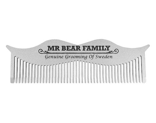 Moustache Steel Comb - Mr. Bear Family