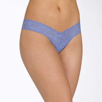 Stringtrosa Signature Lace Low Rise Chambray - Hanky Panky